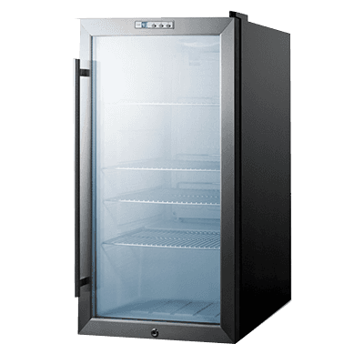 Summit Commercial SCR486L 18.75'' Black 1 Section Swing Refrigerated Glass Door Merchandiser
