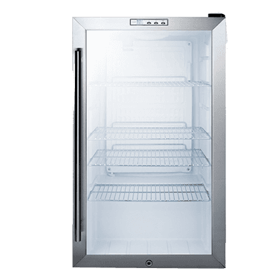 Summit Commercial SCR486LBI 19.00'' Silver 1 Section Swing Refrigerated Glass Door Merchandiser