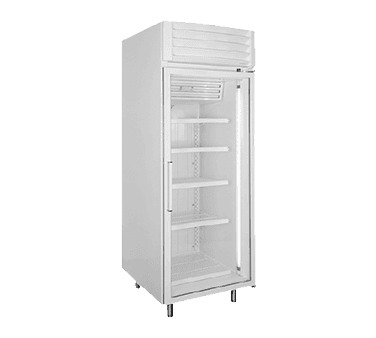 Global Refrigeration T30LGP 31'' 27.3 cu. ft. 1 Section Silver Glass Door Merchandiser Freezer