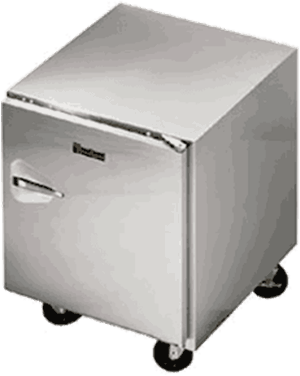 Traulsen ULT27-L 27'' 1 Section Undercounter Freezer with 1 Left Hinged Solid Door and Front Breathing Compressor
