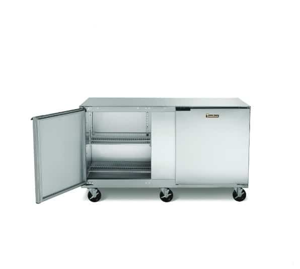 Traulsen ULT27-L-SB 27'' 1 Section Undercounter Freezer with 1 Left Hinged Solid Door and Front Breathing Compressor