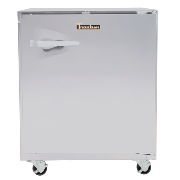 Traulsen ULT27R0-0300-SB 27'' 1 Section Undercounter Freezer with 1 Right Hinged Solid Door and Front Breathing Compressor
