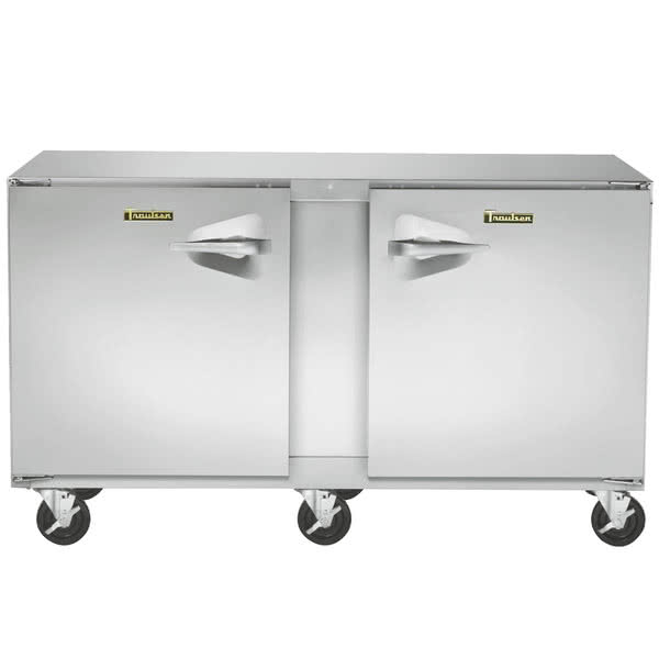 Traulsen ULT60RR-0300 60'' 2 Section Undercounter Freezer with 2 Right Hinged Solid Doors and Front Breathing Compressor