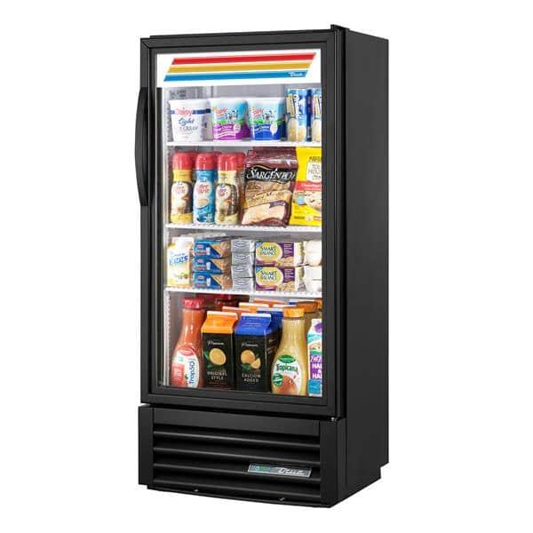 True Mfg. - General Foodservice GDM-10SSL-HC~TSL01 24.88'' Black 1 Section Swing Refrigerated Glass Door Merchandiser