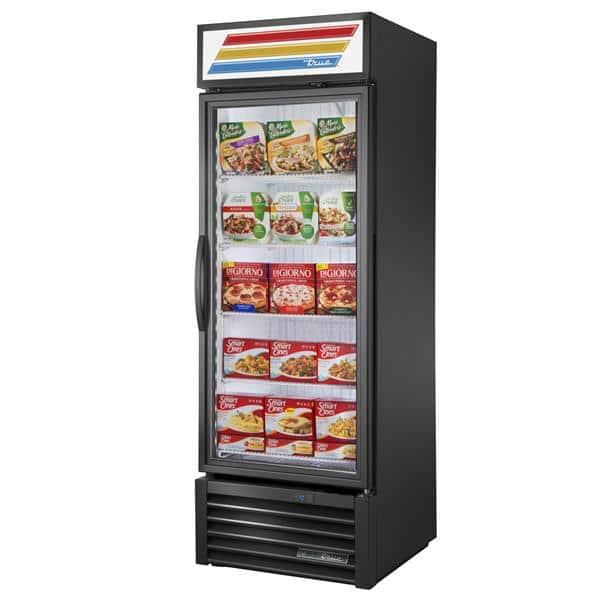 True Mfg. - General Foodservice GDM-23F-HST-HC~TSL01 27'' 23.0 cu. ft. 1 Section Black Glass Door Merchandiser Freezer