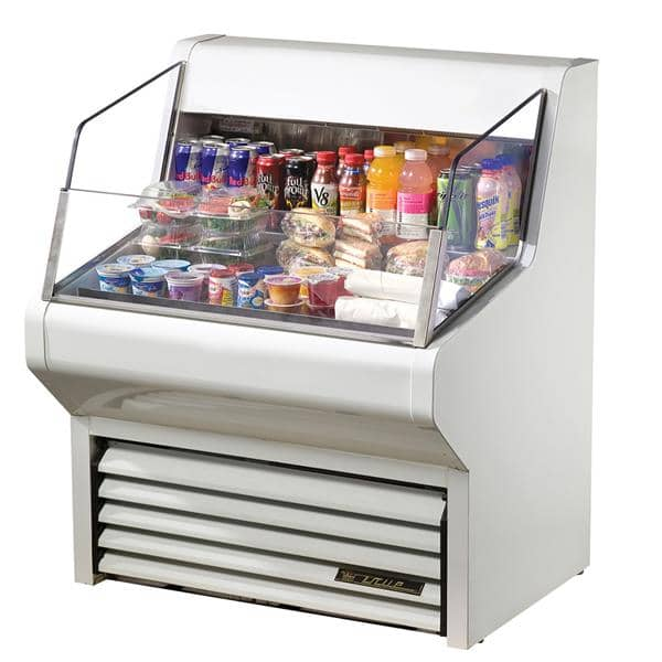 True Mfg. - General Foodservice THAC-36-LD 36.13'' White Horizontal Air Curtain Open Display Merchandiser with 3 Shelves