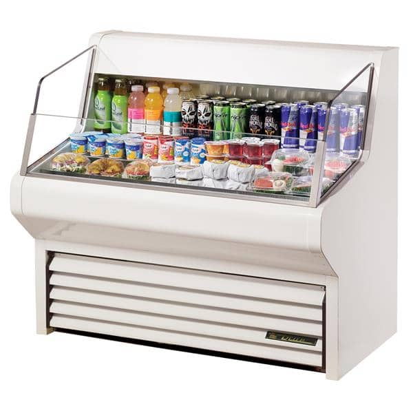 True Mfg. - General Foodservice THAC-48-LD 48.13'' White Horizontal Air Curtain Open Display Merchandiser with 3 Shelves