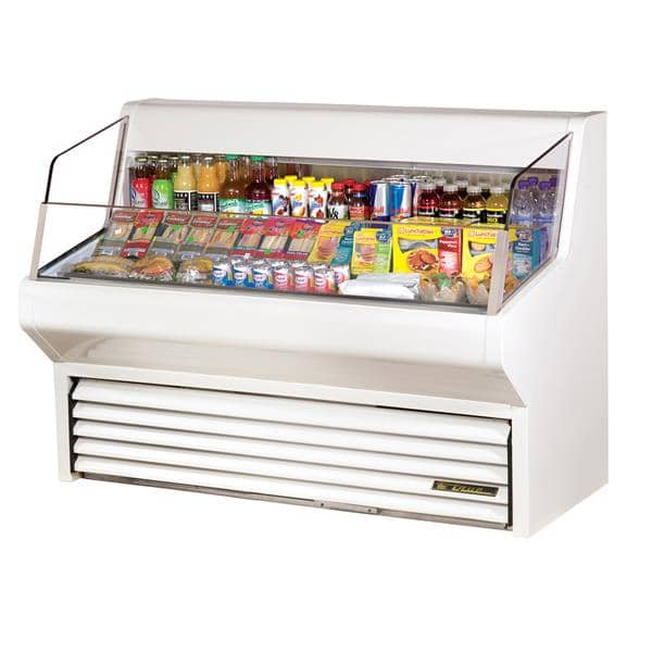 True Mfg. - General Foodservice THAC-60-LD 60.13'' White Horizontal Air Curtain Open Display Merchandiser with 3 Shelves