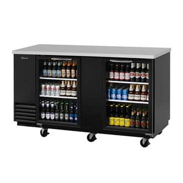 Turbo Air TBB-3SG-N Two-Section, 23. Cu. Ft. Back Bar Cooler