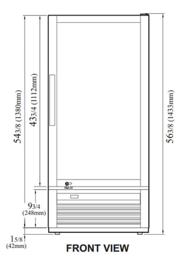 Turbo Air TGM-10SD-N6 25.75'' White 1 Section Swing Refrigerated Glass Door Merchandiser