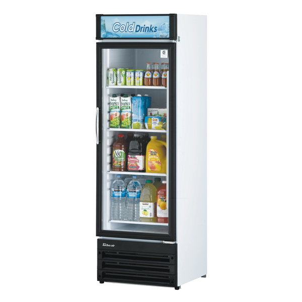 Turbo Air TGM-14RV-N6 23.62'' Black 1 Section Swing Refrigerated Glass Door Merchandiser