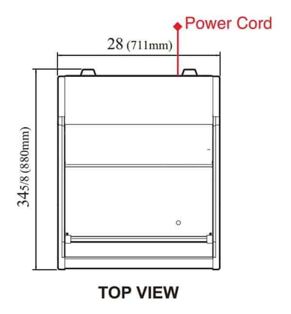 Turbo Air TOM-30LB-N 28'' Black Horizontal Air Curtain Open Display Merchandiser with 1 Shef