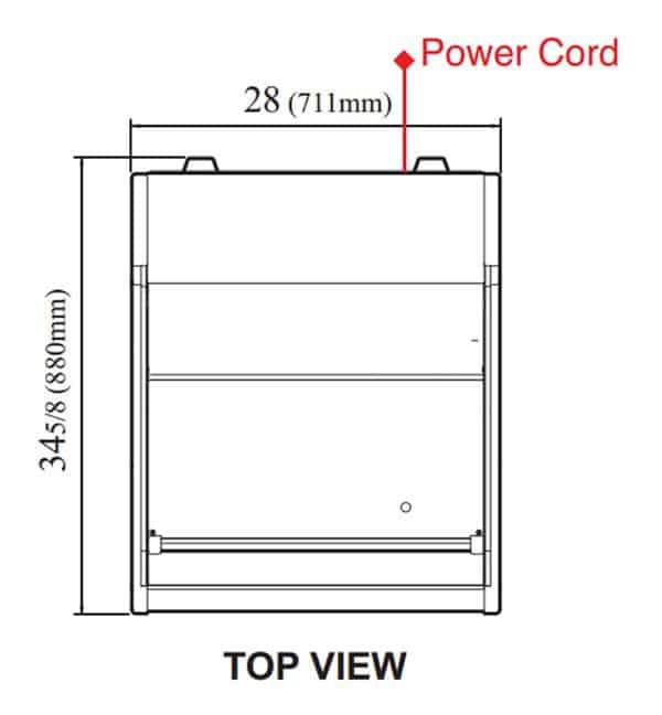 Turbo Air TOM-30LW-N 28'' White Horizontal Air Curtain Open Display Merchandiser with 1 Shef