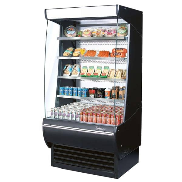 Turbo Air TOM-36DXB-N Extra Deep Vertical Open Display Merchandiser