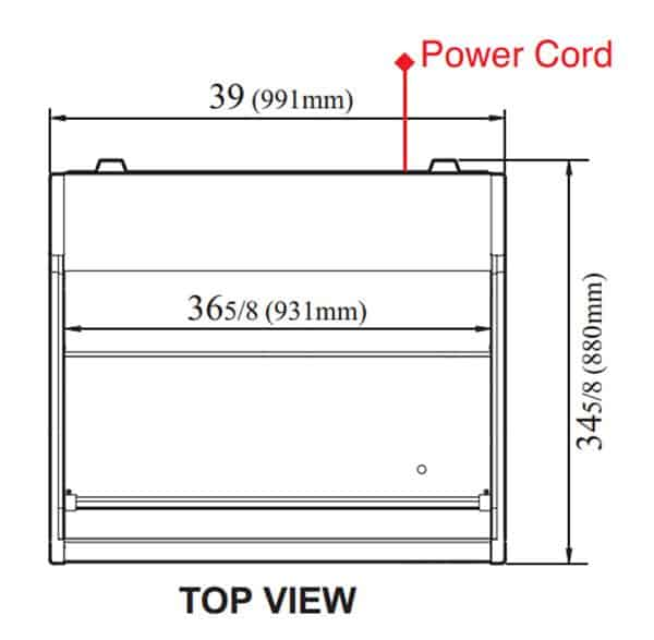 Turbo Air TOM-40LW-N 39'' White Horizontal Air Curtain Open Display Merchandiser with 1 Shef