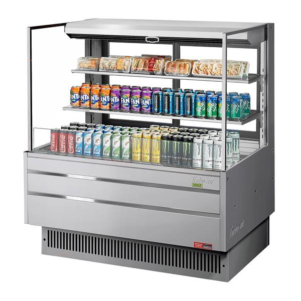 Turbo Air TOM-48L-UFD-S-3S-N 46.75'' Air Curtain Open Display Merchandiser with