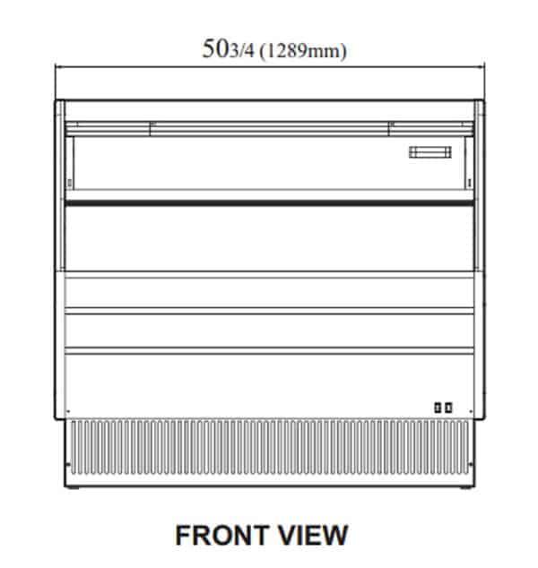 Turbo Air TOM-50LB-N 50.75'' Black Horizontal Air Curtain Open Display Merchandiser with 1 Shef