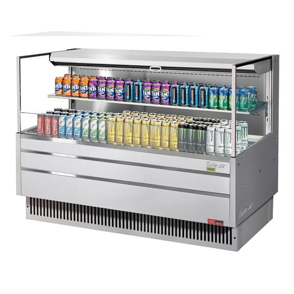 Turbo Air TOM-60L-UF-S-2S-N 58.75'' Air Curtain Open Display Merchandiser with