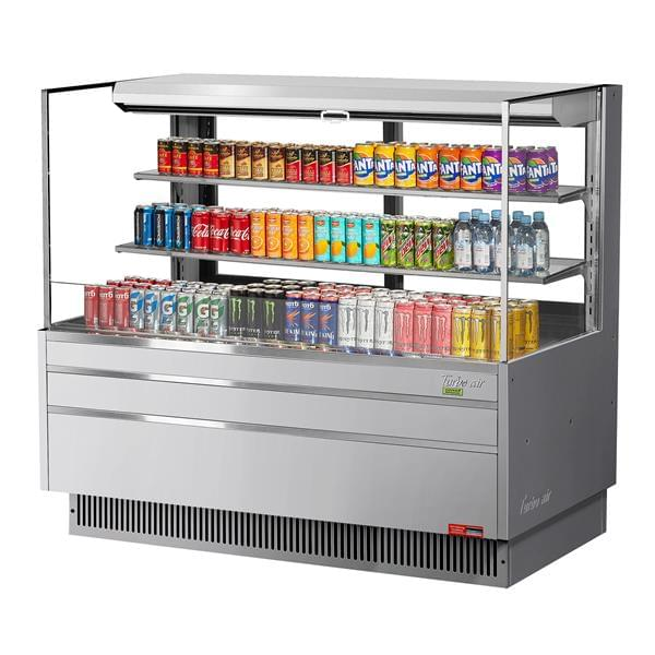 Turbo Air TOM-60L-UFD-S-3S-N 58.75'' Air Curtain Open Display Merchandiser with