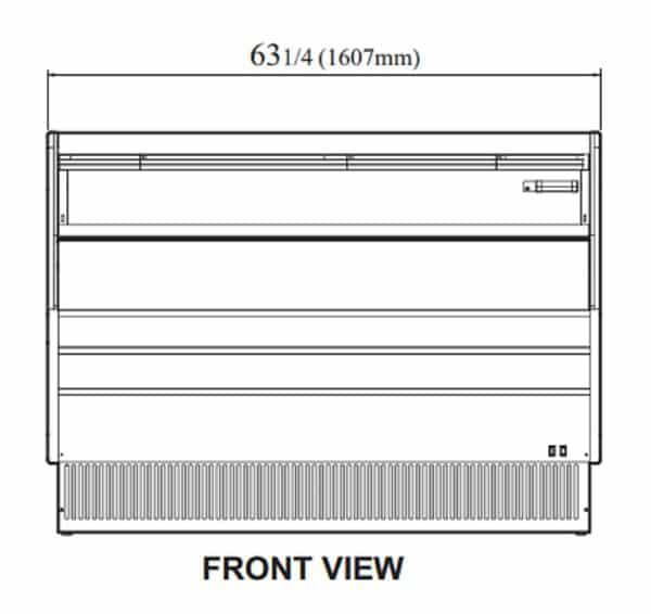 Turbo Air TOM-60LB-N 63.25'' Black Horizontal Air Curtain Open Display Merchandiser with 1 Shef