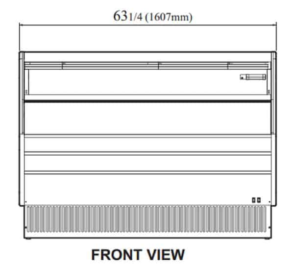 Turbo Air TOM-60LW-N 63.25'' White Horizontal Air Curtain Open Display Merchandiser with 1 Shef