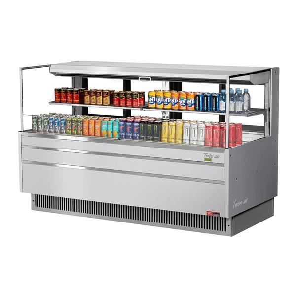 Turbo Air TOM-72L-UFD-S-2S-N 70.75'' Air Curtain Open Display Merchandiser with