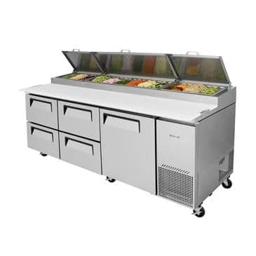 Turbo Air TPR-93SD-D4-N Super Deluxe Pizza Prep Table