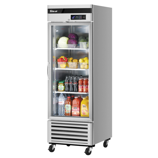 Turbo Air TSR-23GSD-N6 27'' White 1 Section Swing Refrigerated Glass Door Merchandiser