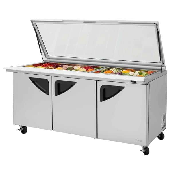 Turbo Air TST-72SD-30-N-GL Super Deluxe Sandwich/Salad Mega Top Unit with
