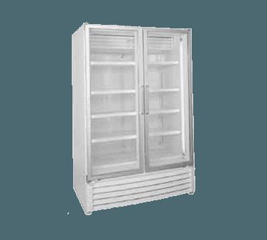 Global Refrigeration ULG50BC 52'' 49.1 cu. ft. 2 Section Silver Glass Door Merchandiser Freezer