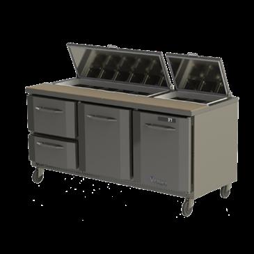 Victory Refrigeration VSP72-30B UltraSpec Series Big Top Sandwich Prep Table