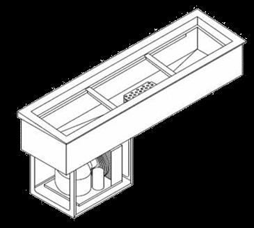 Wells HRCP-7200SLST Slope Top Slim Line Hot/Cold Drop In Unit