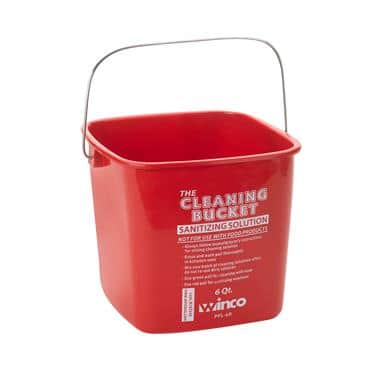 Winco PPL-6R Cleaning Bucket