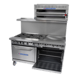 Bakers Pride Bakers Pride 72-BP-8B-G24-S30 Restaurant Series Range