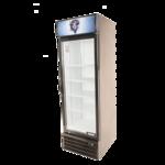 Bison Refrigeration BGM-15 23.9'' Black 1 Section Swing Refrigerated Glass Door Merchandiser
