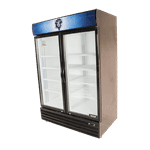 Bison Refrigeration BGM-49 52.4'' Black 2 Section Swing Refrigerated Glass Door Merchandiser