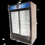 Bison Refrigeration BGM-49-SD 52.4'' Black 2 Section Sliding Refrigerated Glass Door Merchandiser