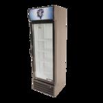 Bison Refrigeration BGM-8 21.2'' Black 1 Section Swing Refrigerated Glass Door Merchandiser