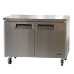 Bison Refrigeration BUR-48 48.13'' 2 Section Undercounter Refrigerator with 2 Left/Right Hinged Solid Doors and Side / Rear Breathing Compressor