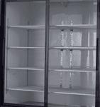 Blue Air BKGM48SL-HC 54.38'' Black 2 Section Sliding Refrigerated Glass Door Merchandiser