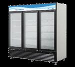 Blue Air BKGM72 81.88'' Black 3 Section Swing Refrigerated Glass Door Merchandiser