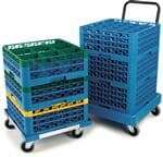 "Carlisle C2236H14 Opticlean"" Glass Rack Dolly"