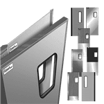Curtron Products SPD-30-ABS-DBL-9696 Service-Pro® Series 30 Double Swinging Door