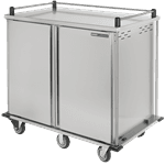 Dinex DXTQ2T2D24 TQ Quiet Mobile Tray Delivery Cart with 2 Doors