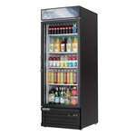 Everest Refrigeration EMGR24B 28.38'' Black 1 Section Swing Refrigerated Glass Door Merchandiser