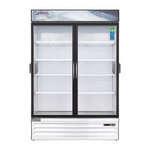 Everest Refrigeration EMSGR48C 53.13'' White 2 Section Swing Refrigerated Glass Door Merchandiser