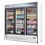 Everest Refrigeration EMSGR69 72.88'' White 3 Section Swing Refrigerated Glass Door Merchandiser