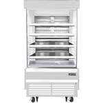 Everest Refrigeration EOMV-36-W-35-T 37.25'' Air Curtain Open Display Merchandiser with