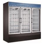 Falcon AGM-79F 78.25'' 70.0 cu. ft. 3 Section Black Glass Door Merchandiser Freezer