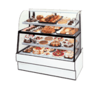 Federal Industries Federal Industries CGR3660DZH Curved Glass Horizontal Dual Zone Bakery Case Refrigerated Bottom Non-Refrigerated Top